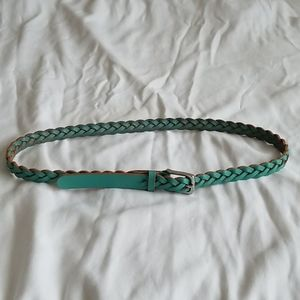 GAP Teal Leather Braided Belt - Size Small